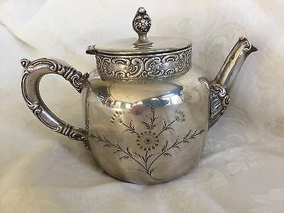 Antique Late 1800- Early 1900 Oneida Silverplated Teapot & ANTIQUE Late 1800- Early 1900 Oneida Silverplated Teapot - £38.78 ...