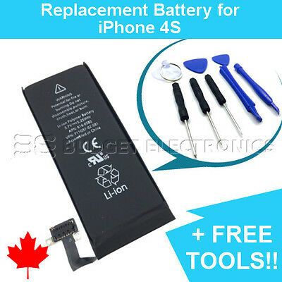 NEW Replacement Battery for iPhone 4S 4GS 1430mAh with FREE Repair Tools