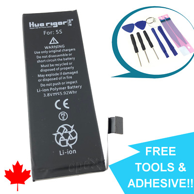 NEW iPhone 5S Replacement Battery APN 616-0720 1560mAh Canada with FREE Tools