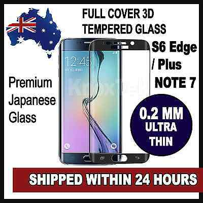 Full Cover 3D Samsung Galaxy S6 Edge / Edge Plus Tempered Glass Screen Protector