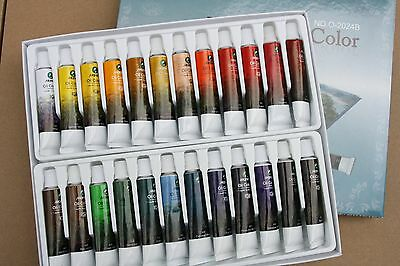 Marie's 24Colors x 12ml Oil x 2 Boxes Painting professional
