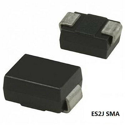 100Pcs Es2J Sma Diode Ultra Fast Recovery 2A 600V Rectifier Diode