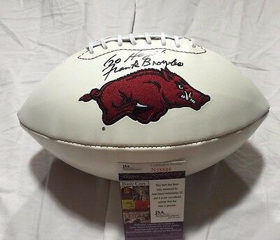 Frank Broyles Autographed Arkansas Razorbacks Football Jsa