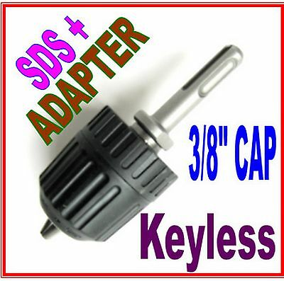 "1 pc SDS plus Adapter & 3/8"" CAP Drill Keyless Chuck sct 888"
