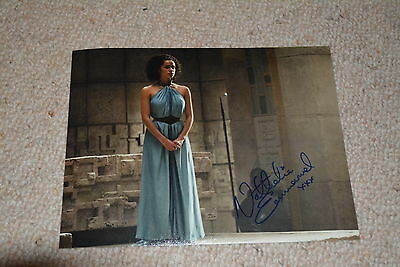 NATHALIE EMMANUEL signed Autogramm 20x25 cm In Person GAME OF THRONES Missandei