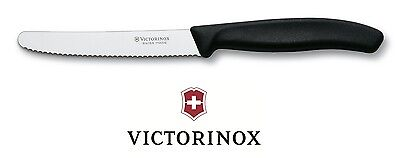 "Victorinox GENUINE Kitchen Knife 4.5"" Tomato Sausage Vegetable Steak – Black"