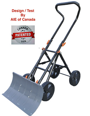 New Concept Snow Shovel - Foldable Snow Pusher & Thrower