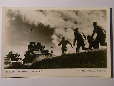 12B1 Cpa Carte Photo Anglais Gb Bef 1939 Dunkerque 1940 Cavalry Tank In France