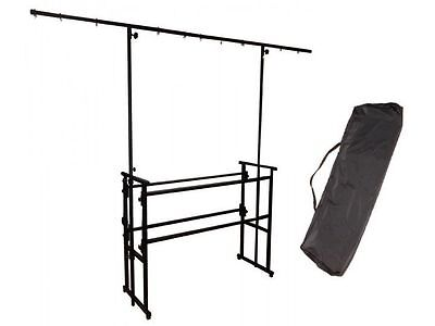 4ft DJ Deck Stand Heavy Duty Black Metal Overhead Lighting Bar & Carry Bag