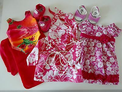 """NEW-DOLL CLOTHES -Doll HAWAIIAN Sets/Shoes-Lot #165-fit 18"""" Doll such as AG Doll"""