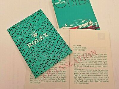 ROLEX Oyster Translation Booklet  (choice of dates).