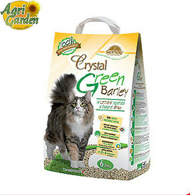 Lettiera igienica vegetale gatti base cellulosa Crystal Green Fiber 6 Lt