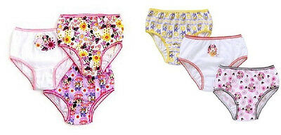 Disney Minnie Mouse 3 Pair Girls' Panties Underwear 2 Choices Sizes 4 or 6 NWT