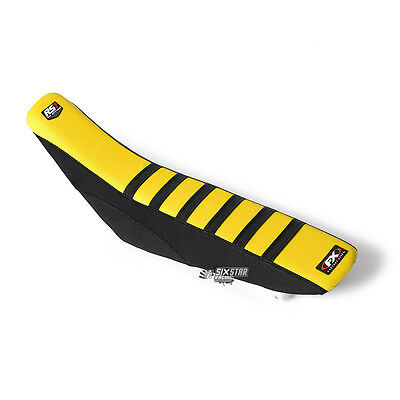 Factory Effex RS1 Housse De Selle Full Traction Jaune Suzuki RMZ250 '2010-2016