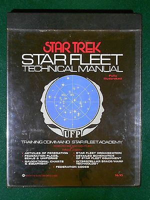 Star Trek 1975 Star Fleet Technical Manual – Good Condition - Ballantine Books