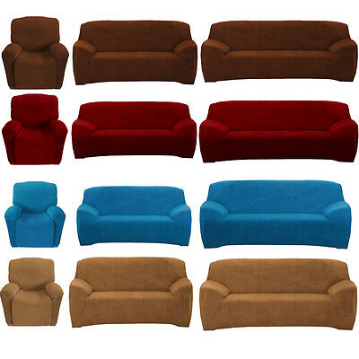 1 2 3 Seater Stretch Sofa Lounge Loveseat Recliner Home Couch Cover Slipcover