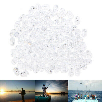 100pcs ovale Perles Rig Transparent Sea Fishing Lure Flottant Float Tackle
