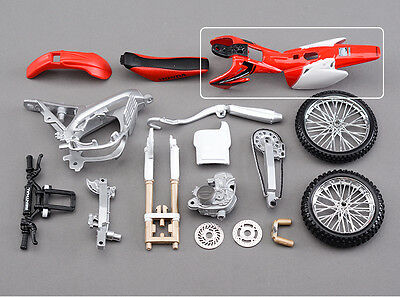 Diy Assembly Model Kit 1/12 Scale Diecast Motorcycle Collection Honda CRF 450R