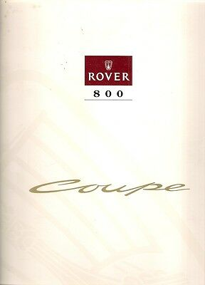 Rover 827 Coupe 1992-93 UK Market Sales Brochure 800-Series
