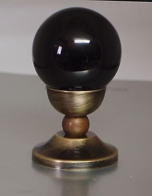 Crystal ball or Egg shape stand / holder antique style brass Handmade