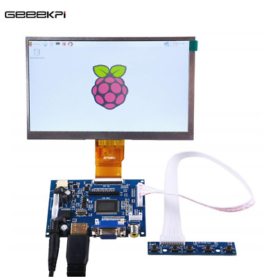 7 inch LCD Panel Digital Screen and Drive Board(HDMI+VGA+2AV) for Raspberry Pi