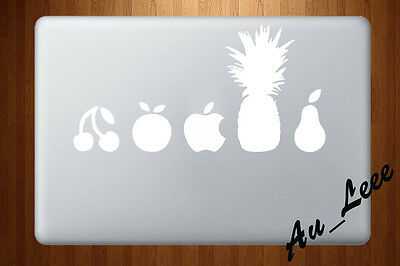 Macbook Air Pro Vinyl Skin Sticker Decal Fruit Collection White OR Black MAC829W
