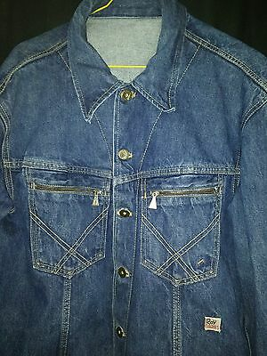 giubbino jeans ROY ROGER'S* L *DENIM coat/jacket**VINTAGE retro