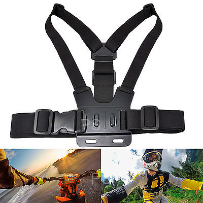Chest Harness Head Strap Mount Monopod Tripod Adapter For Gopro