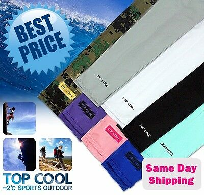 4 Pairs Cooling Warmer Sport Arm Stretch Sleeves Sun Block UV Protection Covers