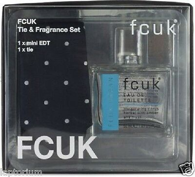 FCUK Tie & Fragrance Set xmas gift set for him