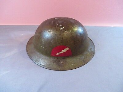 WWI WW1 US Army M17 British Made Brodie Helmet 78th Lightning Division Doughboy