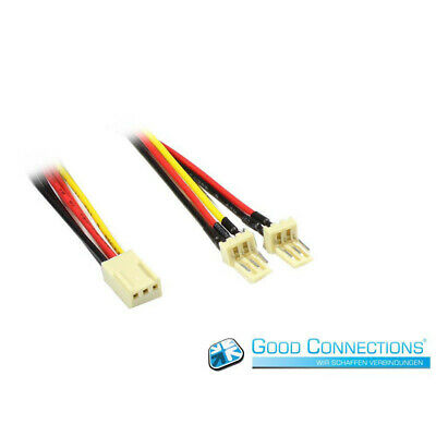 Good Connections Lüfter Y-Adapterkabel 3Pin auf 2x 3Pin Molex (14,50 EUR/m)