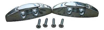 (2) 316s Stainless Steel Boat Fender Cleats