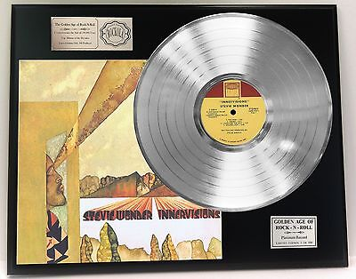 Stevie Wonder Innervisions - Platinum Album LP Record Display - USA Ships Free
