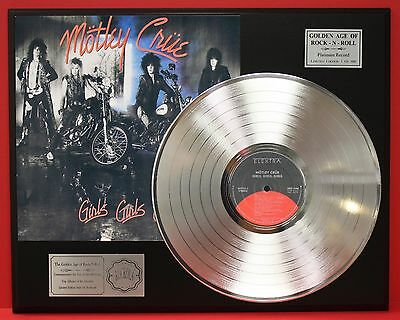 Motley Crue Girls Girls Girls Platinum Album LP Record Display - USA Ships Free