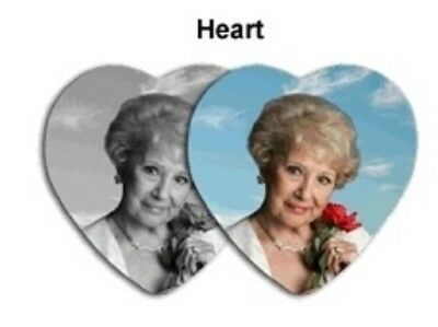 "Porcelain Portraits, Memorial Photos or Family Portraits - Heart 3 1/2"" x 3/1/2"""