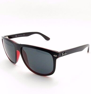 Ray Ban RB 4147 6171/87 Black Red Grey New Authentic Sunglass