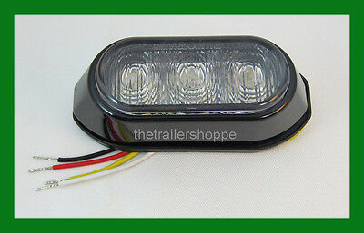Maxxima M20372RCL Red Clear Lens 3 LED Strobe Warning Surface Mount