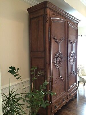 Antique French Armoire, Provincial Bourgeois from Lorraine- Unique and versatile