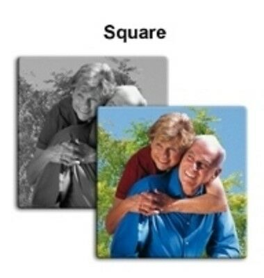 "Flat Steel Enameled Portraits Square 4"" x 4"""