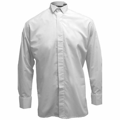 Men's White Wing Collar Dress Shirt Neck Sizes 14 - 20 Inches