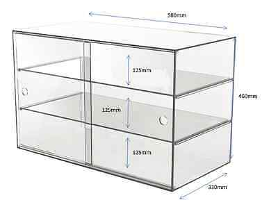 Acrylic Display Cabinet/Case 58x33x40cm Pastries Cakes Muffin Toys Hobbies Shop