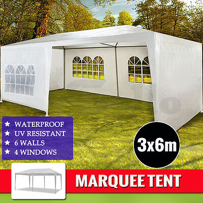 NEW WHITE 3x6 GAZEBO PARTY WEDDING TENT EVENT MARQUEE OUTDOOR PAVILION Canopy
