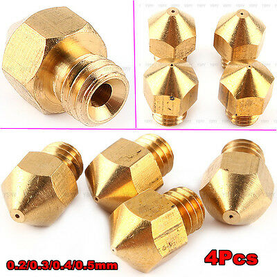 0.2mm-0.5mm Extruder Nozzle Print Head For Makerbot MK8 RepRap 3D Printer Useful