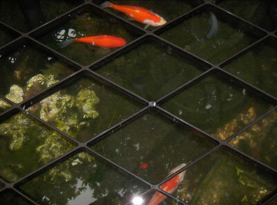 Fish Pond Heron Guard Floating Protection Grids Protects Fish From Herons & Mink