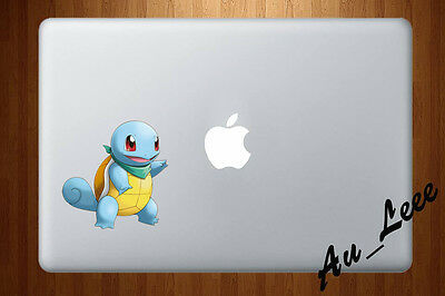 Macbook Air Pro Vinyl Skin Sticker Decal Pokemon Go Squirtle Cute Water cmac202