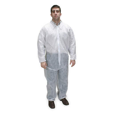 25 New White Disposable Coveralls 4XL With Elastic Wrist & Ankle