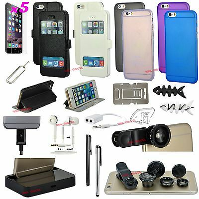 22 in 1 Accessory Bundle Pack Fish Eye Gel Case Charger For iPhone 6 6S Plus
