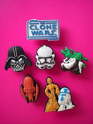 Clog Charm Shoe Button Accessories Fit Bracelet Kid Bands 6 Star Wars