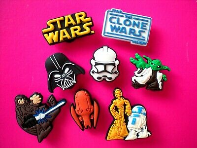 Garden Beach Nurse Clog Charm Shoe Button Accessories For WristBand 8 Star Wars